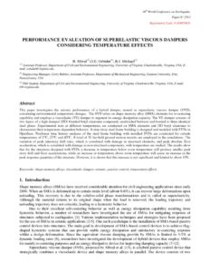 thumbnail of Paper N_2513_PERFORMANCE EVALUATION OF SUPERELASTIC VISCOUS DAMPERS